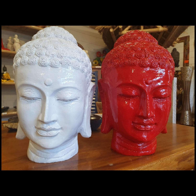 Tête de Bouddha en résine