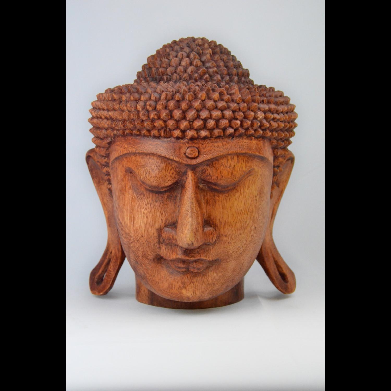 Tête de Bouddha en Bois