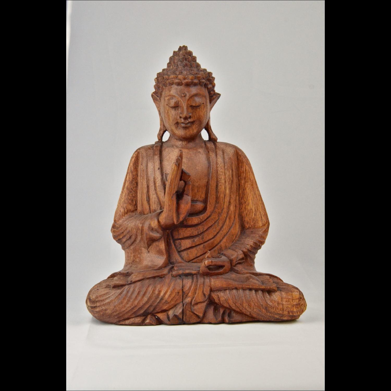 Bouddha Enseignement en Bois