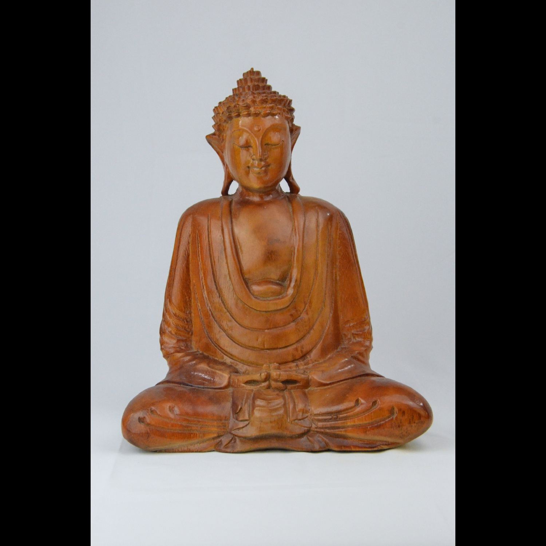 Bouddha Méditation en Bois