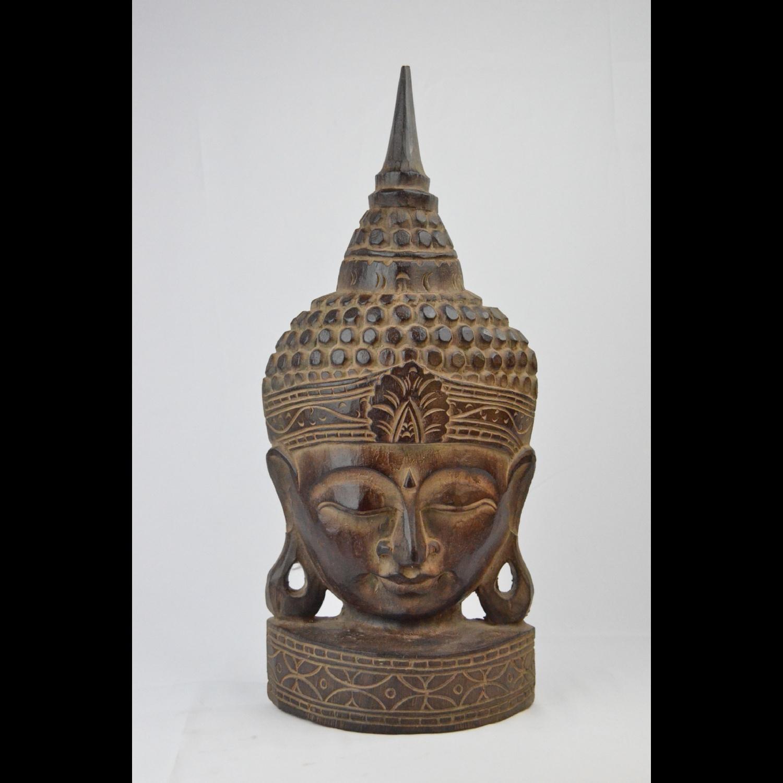 Bouddha Socle en Bois
