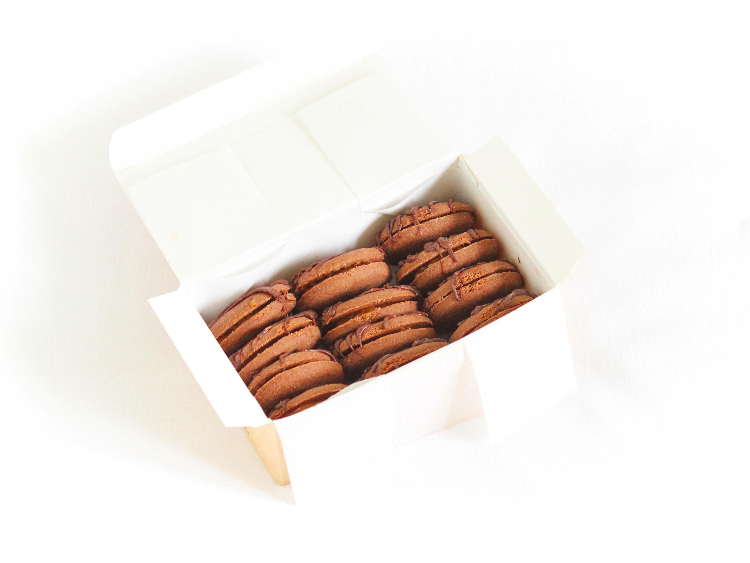 Coffret chocolat - 12 biscuits