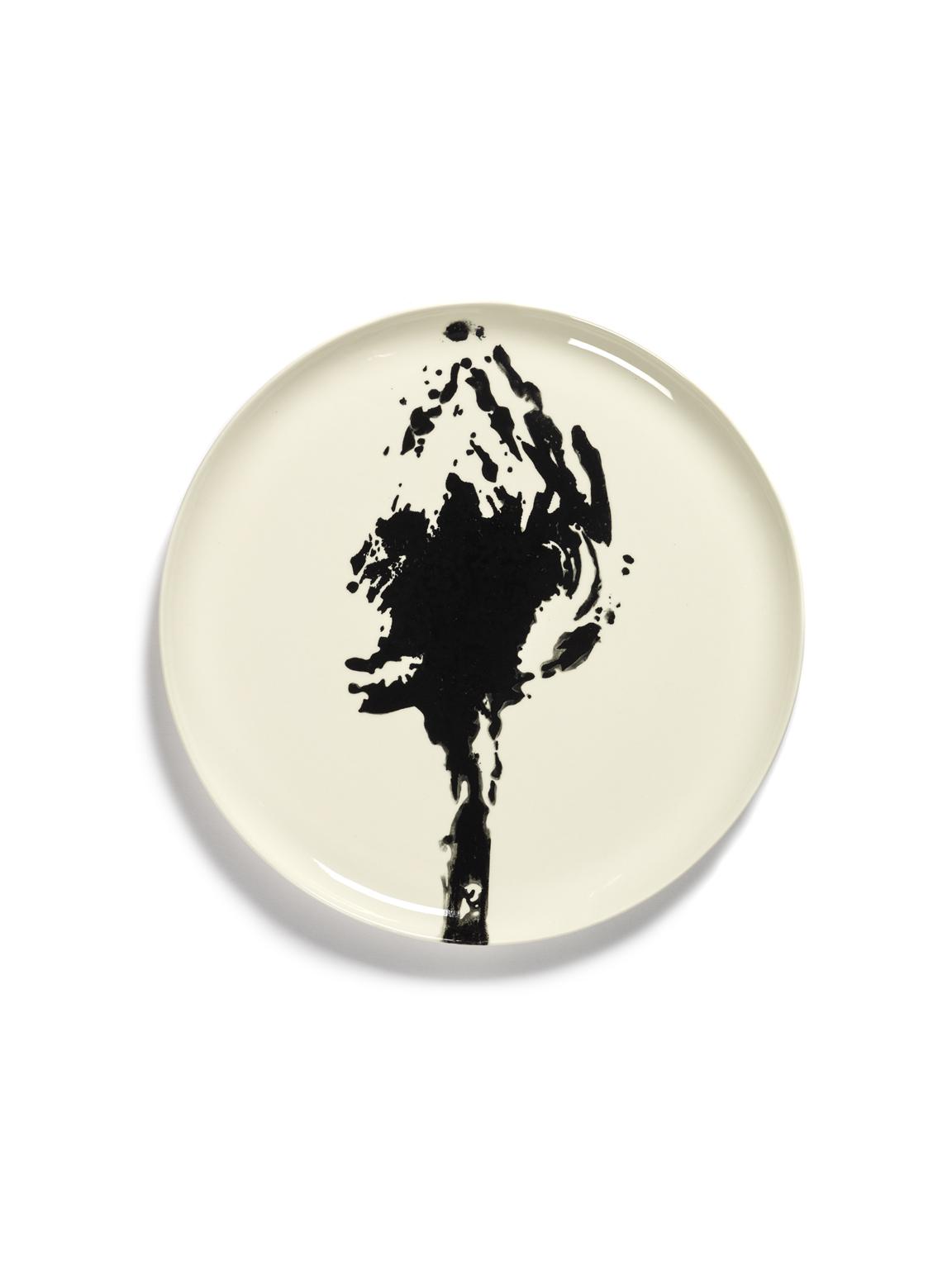 assiette de service feast blanche artichaut noir 35x35x2 B8921007S