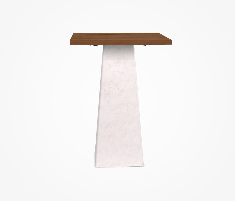 inout pied blanc plateau 76x76