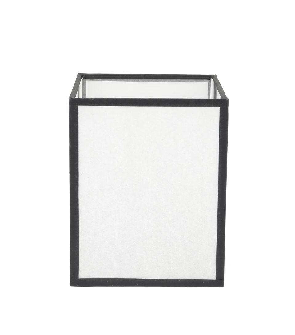 abat-jour rectangle Tara Caravane en papier blanc