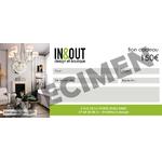 Chèque cadeau In & Out Design 150€ V1 RECTO SPËCIMEN