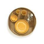 assiette feast s jaune et blanc 19x19x2 B8921004D (3)