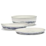 Plat de service FEAST blanc rayures bleues SWIRL B8921013B (4)