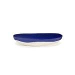 Plat de service FEAST M 36x36x6 lapis lazuli swirl pois blancs B8921014F (4)