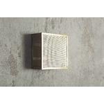 applique KARE en acier bronze ajouré carrée 25x25x12 (2)