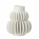vase blanc aillettes bloomingville