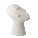 tête sculpture en ciment blanc (3)