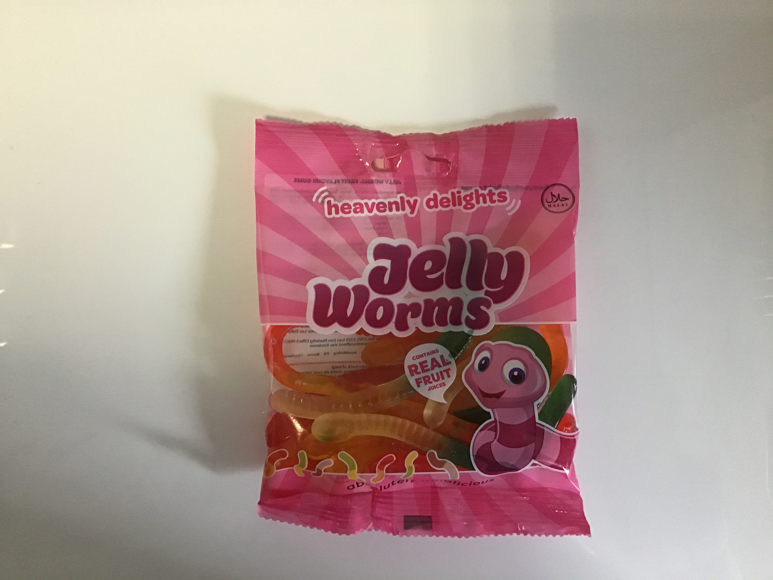 Bonbon halal jelly worms