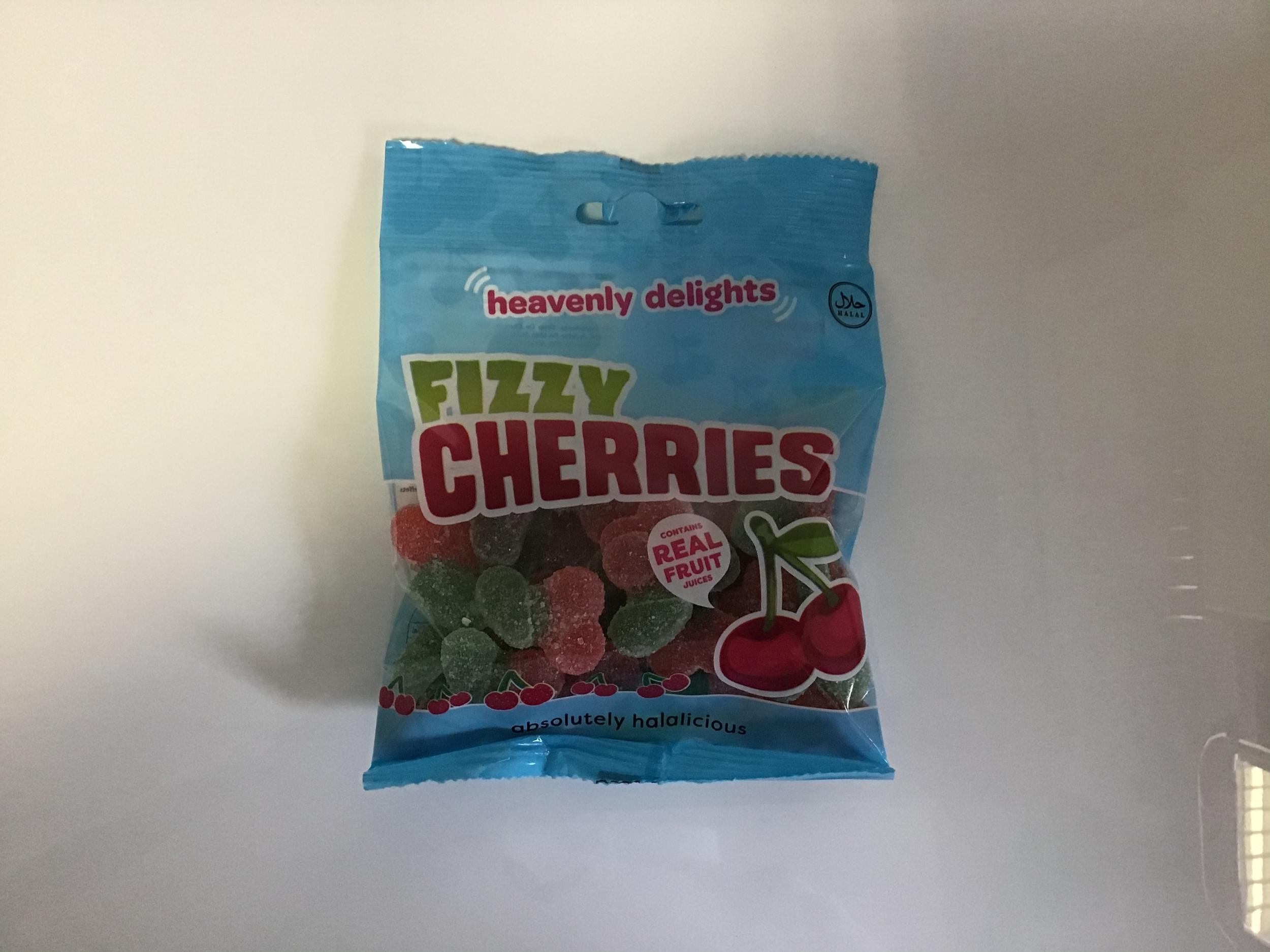 Bonbon halal fizzy cherries
