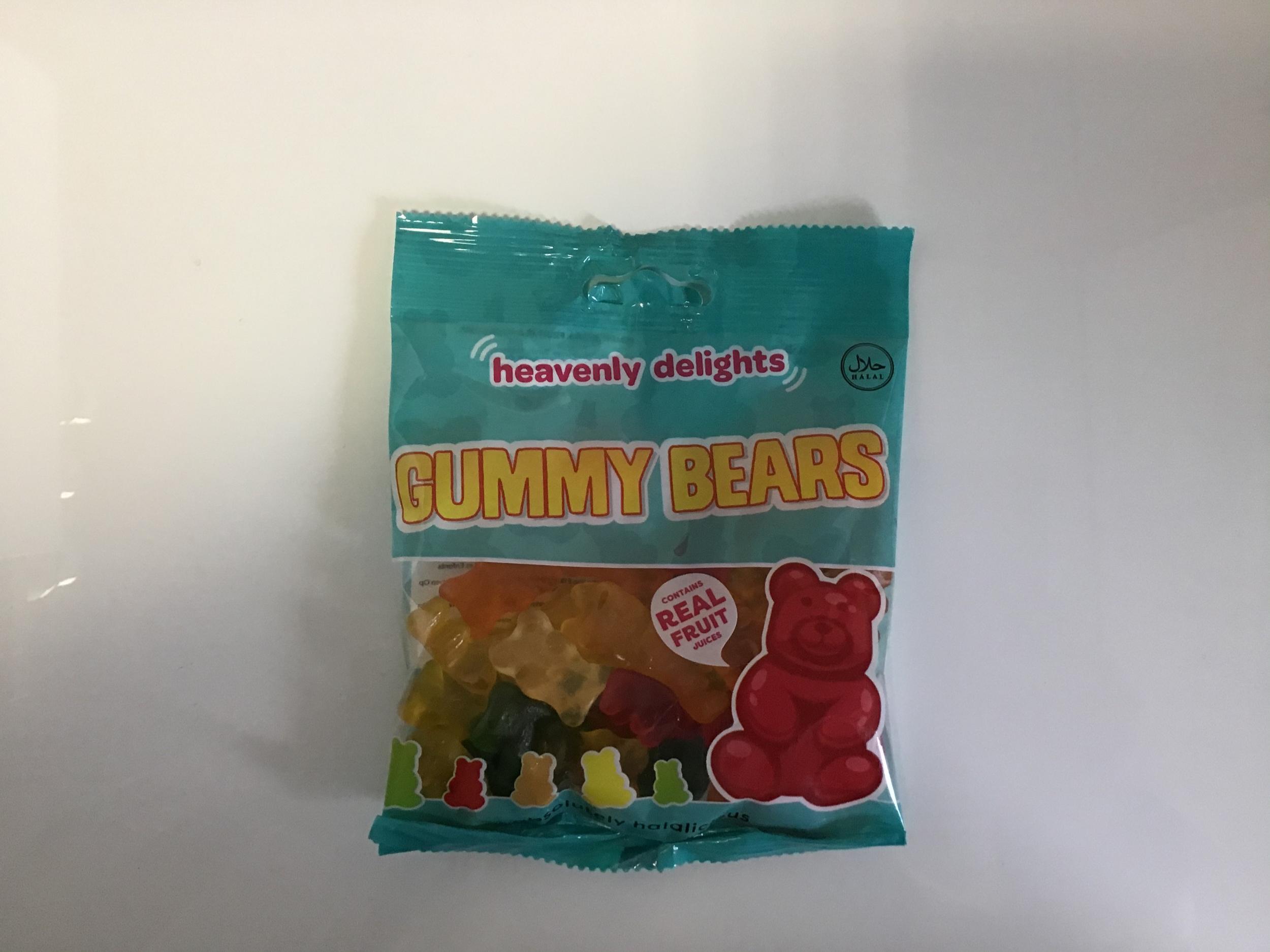 Bonbon halal gummy bears