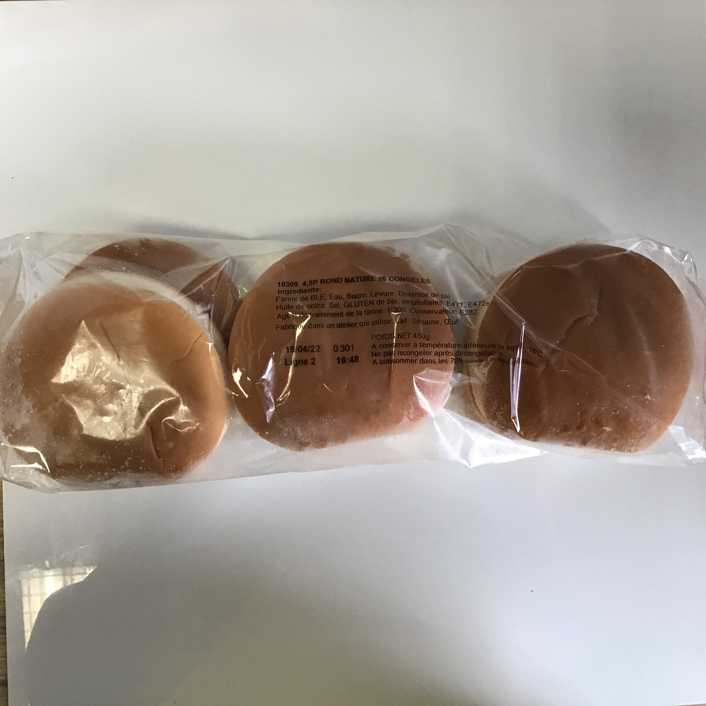 Pains burger surgelés