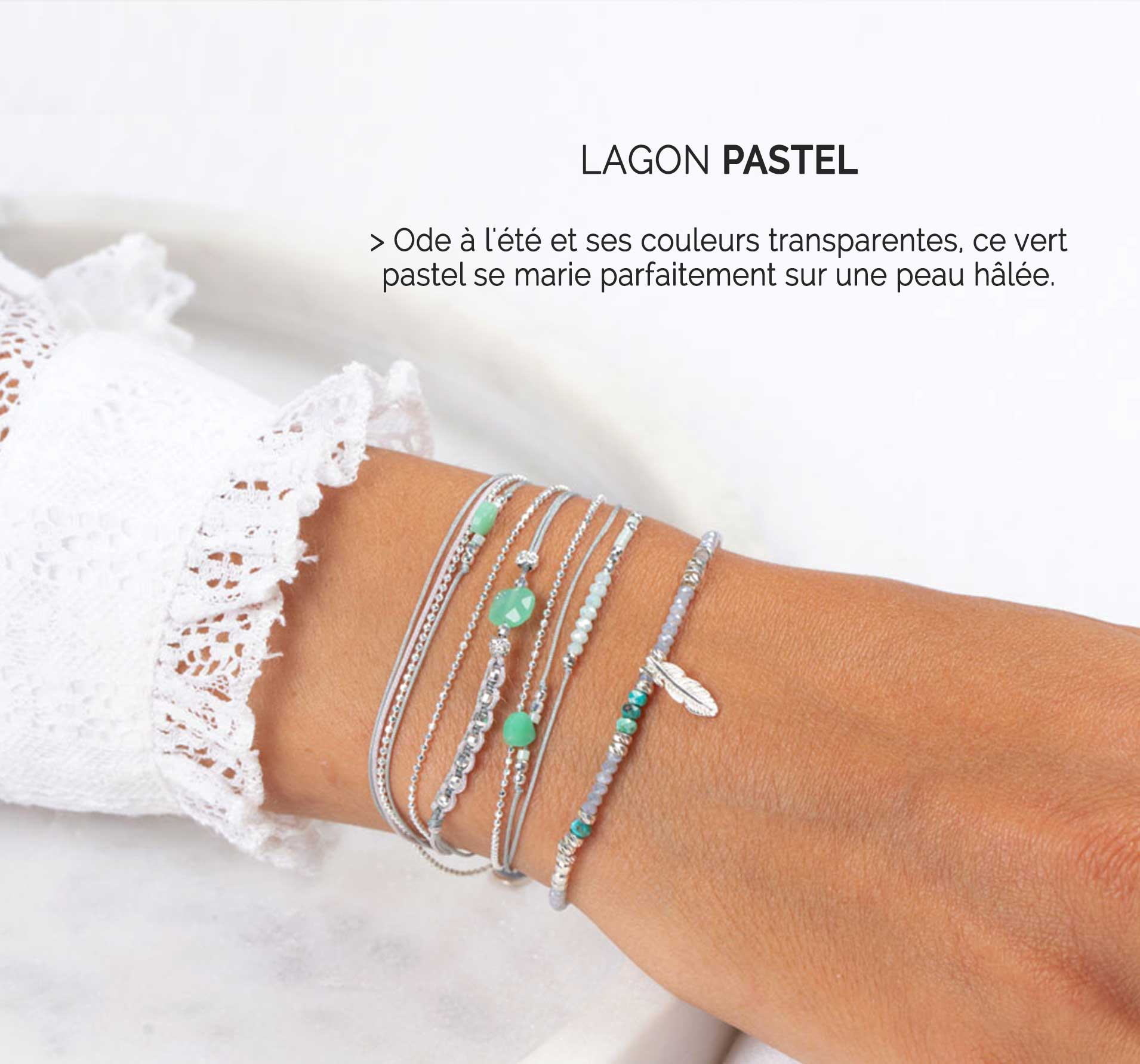Collection Lagon Pastel DORIANE Bijoux