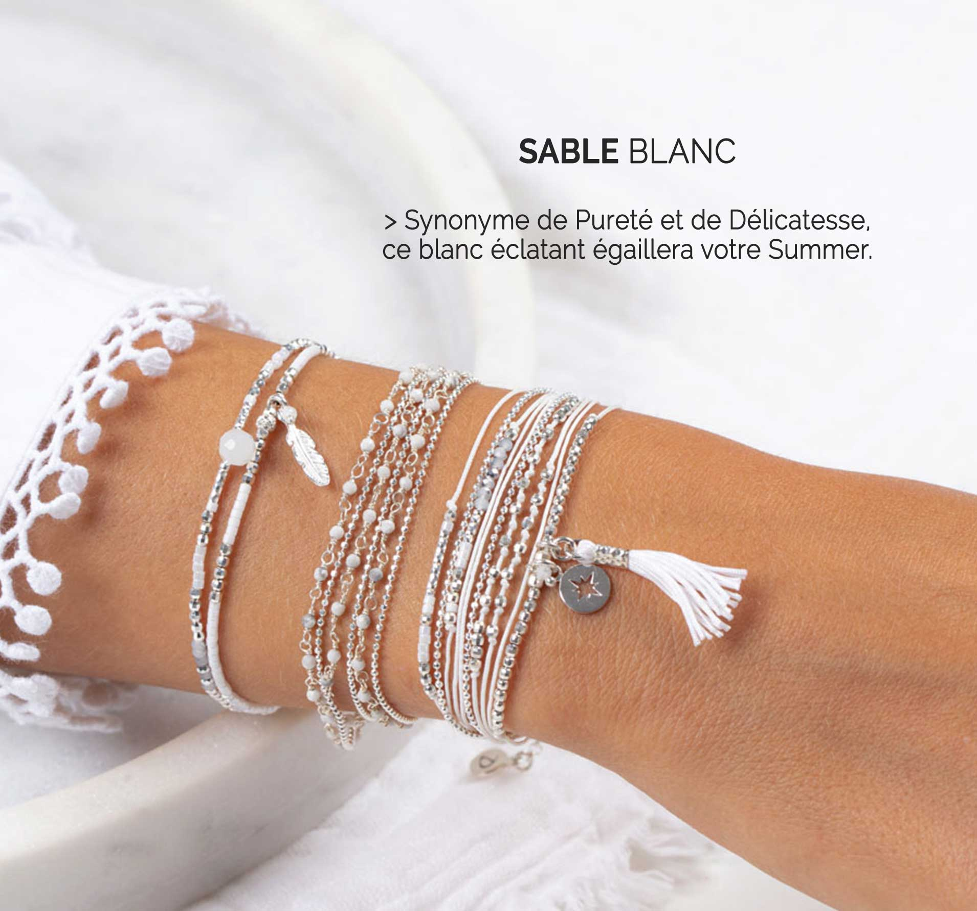 Collection Sable Blanc DORIANE Bijoux