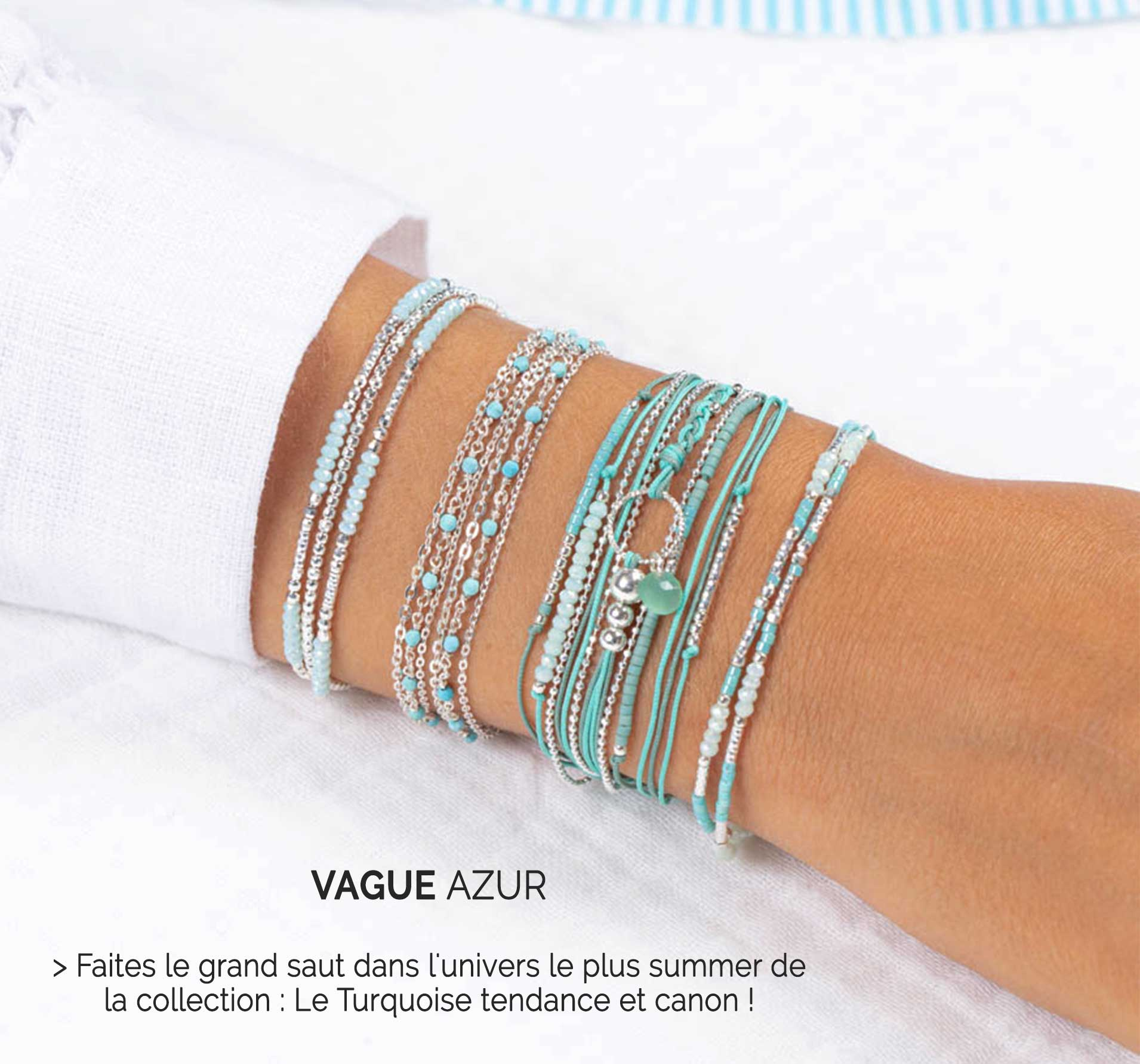 Collection Vague Azur DORIANE Bijoux