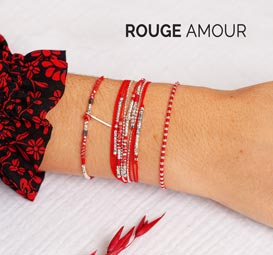 COLLECTION ROUGE AMOUR DORIANE BIJOUX