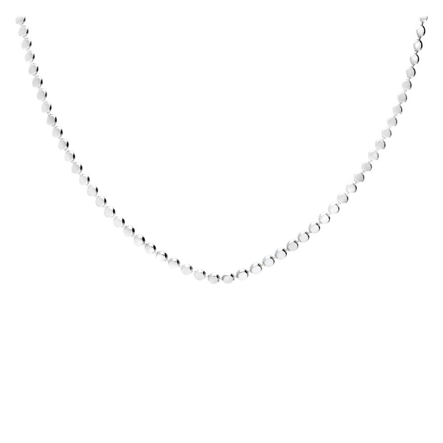 COLLIER MAILLE RONDE ROCK PLATE