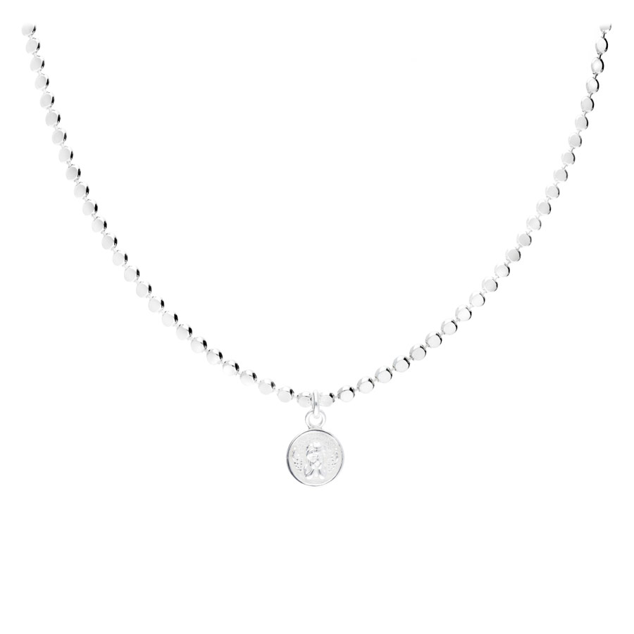 COLLIER SIXTINE MAILLE RONDE ROCK PLATE