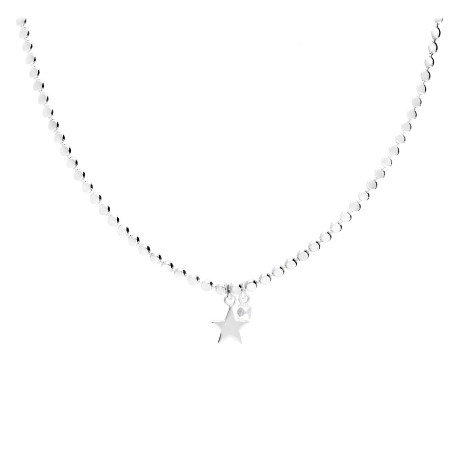 COLLIER PAROS-ETOILE MAILLE RONDE ROCK PLATE