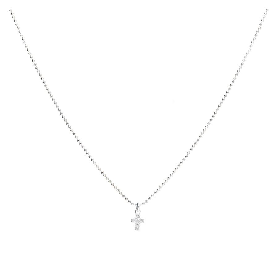CO8441BL - collier en argent pendentif croix