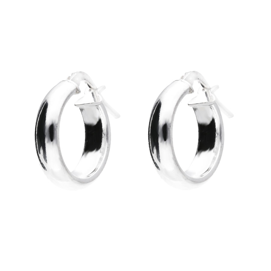 CREOLES RONDES LISSES 10MM