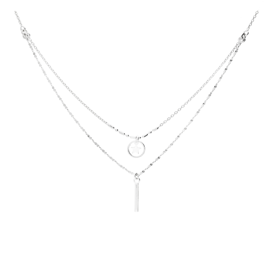 COLLIER DOUBLE RANG SHUFFLE STAR ONE