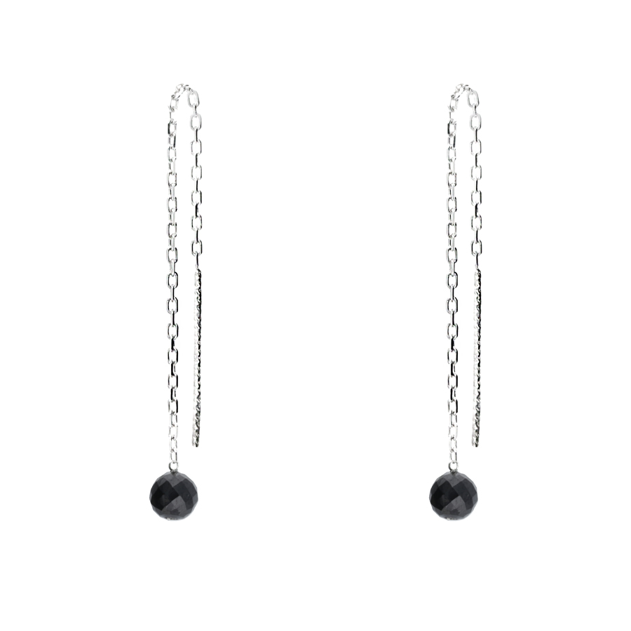 BOUCLE CHAINE FINE SPINELLE 4MM
