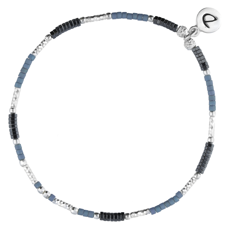 BRACELET ELASTIQUE BRIGHT HEMATITE BLUE