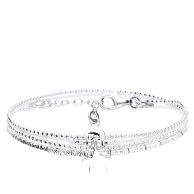 BRACELET DOUBLE TOURS BLANC BABY STAR