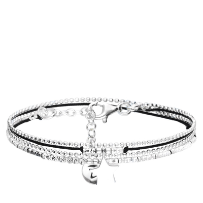 BRACELET DOUBLE TOURS NOIR BABY STAR
