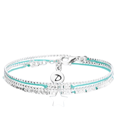 BRACELET DOUBLE TOURS TURQUOISE BABY STAR