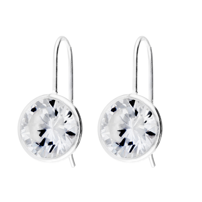 BOUCLES BLANCHES CRISTAL 10MM