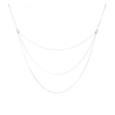 COLLIER TRIPLE CHAINES FINES