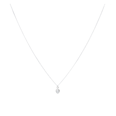 COLLIER PIANA- OVAL BLANC
