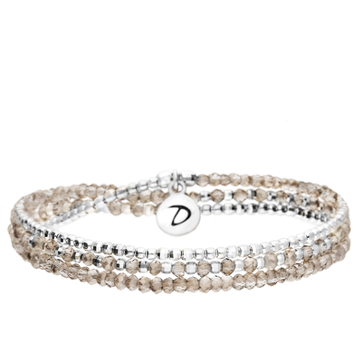 BRACELET HEAVEN CRISTAL GREY TRIPLE TOURS