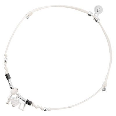 BRACELET CORDON BLANC I LOVE YOU