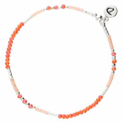 BRACELET ELASTIQUE FLUFFY CORAIL ROSE