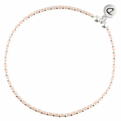 BRACELET ELASTIQUE GRAIN DE FOLIE ROSE