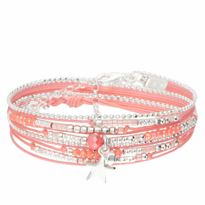 BRACELET MIAMI DOUBLE TOURS CORAIL
