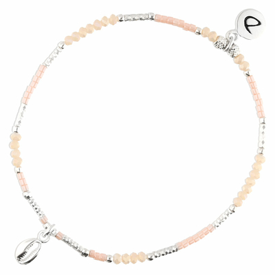 BRACELET ELASTIQUE HONOLULU BEIGE ROSE