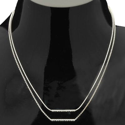 COLLIER CHAINE DOUBLE DIAMONDS