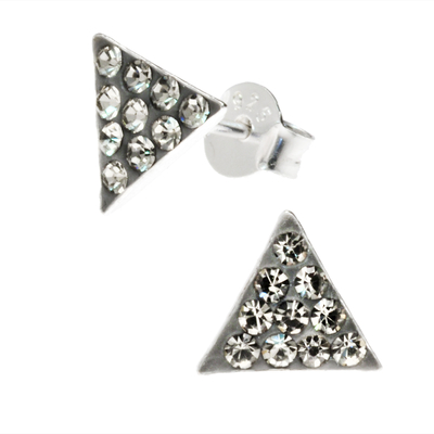 BOUCLES TRIANGLE GRIS