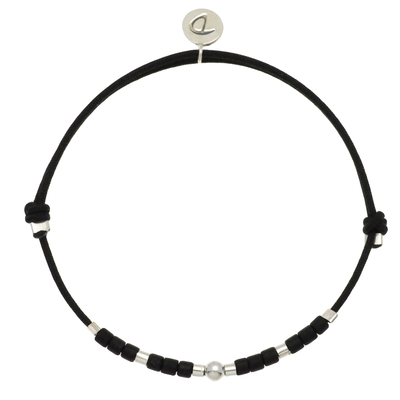 BRACELET HOMME SILVER BLACK MEN