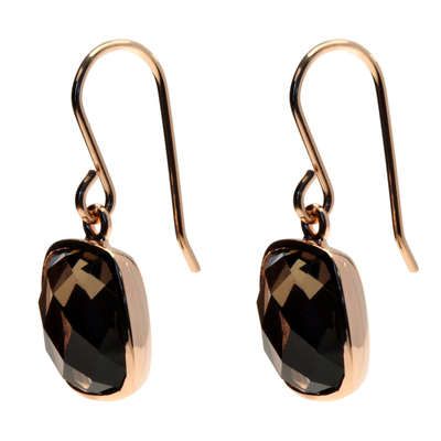 BOUCLES RECTANGLE OXYDE ROSE GOLD