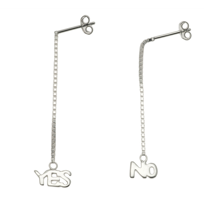BOUCLES PENDANTES YES-NO