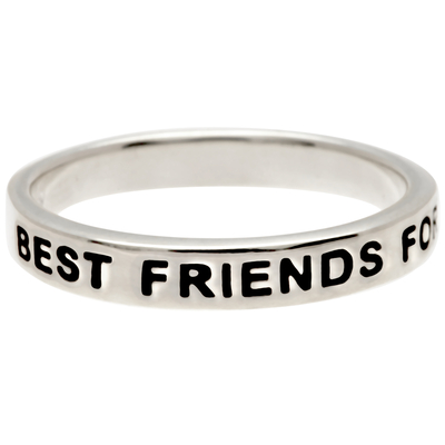 BAGUE MESSAGE BEST FRIEND FOR EVER